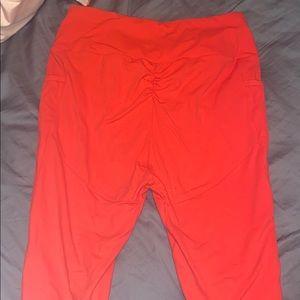 Gymshark leggings royal red